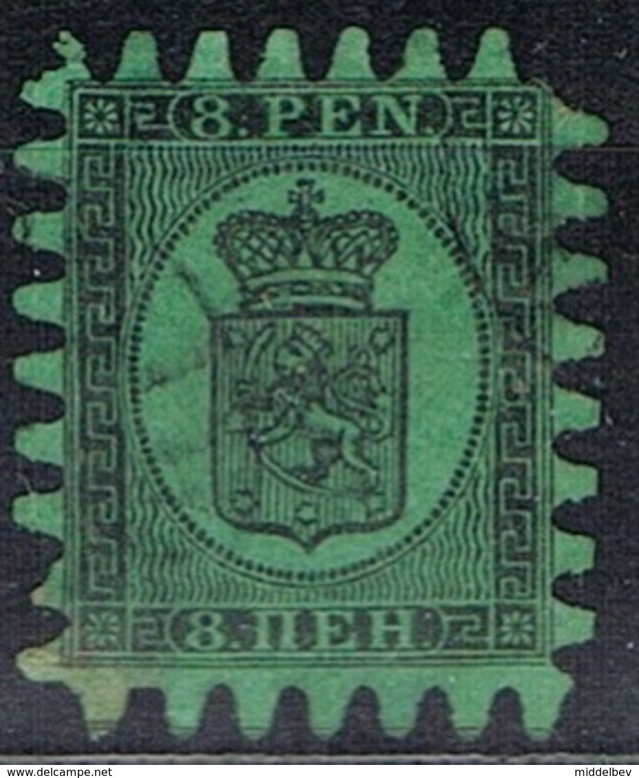 DO 15515 FINLAND GESTEMPELD  YVERT NR 6  ZIE SCAN 2DE KEUZE TANDEN WEG RECHTS BOVEN - 1856-1917 Administration Russe