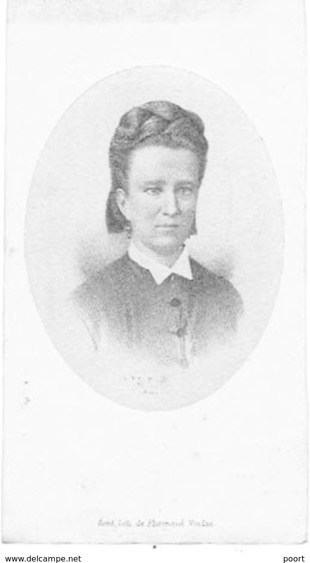 HARELBEKE / NEDERBRAKEL - Eglea CANNAERT (Echtg. R. De Hovre)  - Overleden 1878  - (Litho VAN LOO) - Images Religieuses