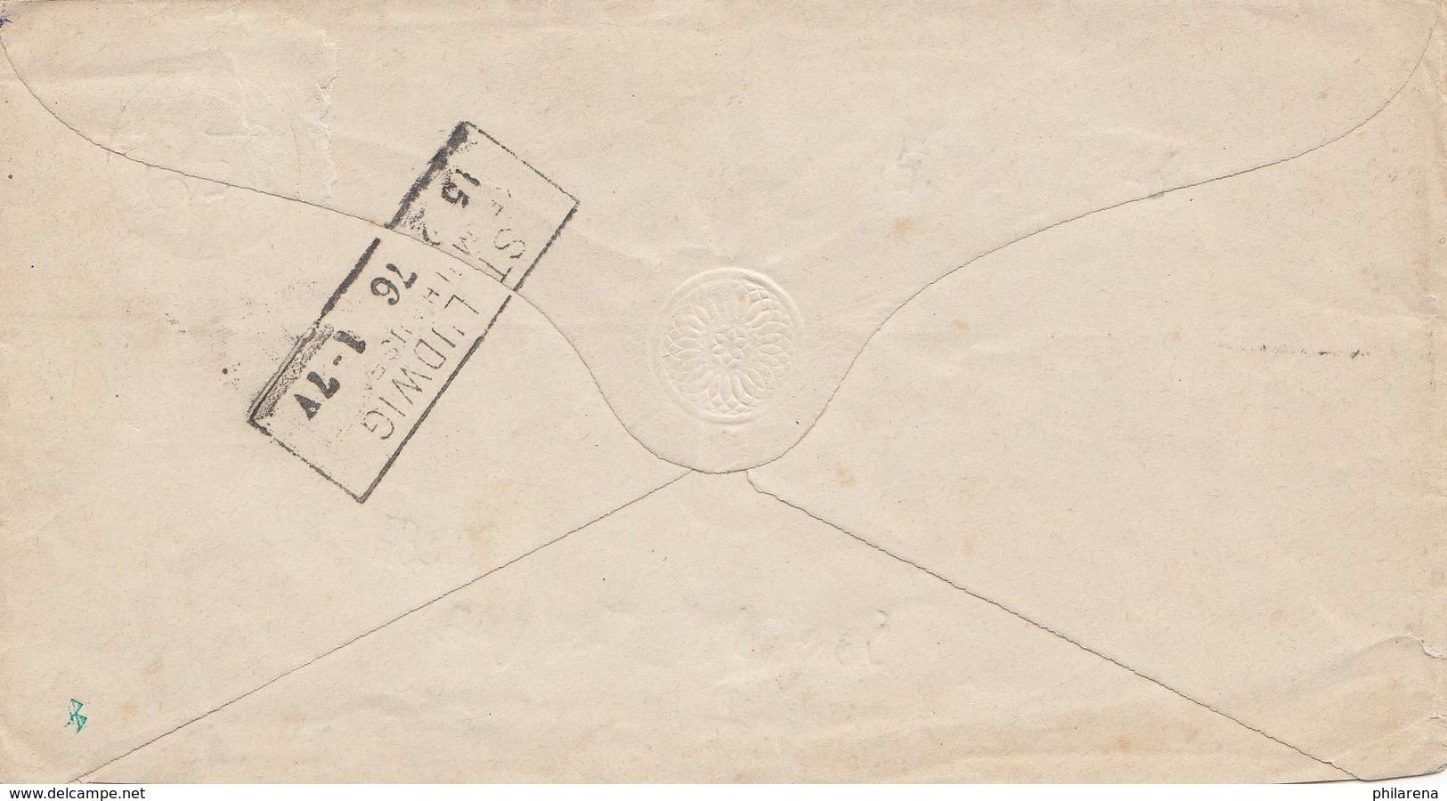 Frankreich: 1876: Mülhausen /Elsass-Lothringen - Frankreich