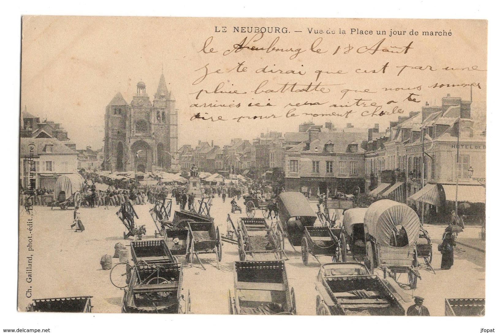 27 EURE - LE NEUBOURG La Place Un Jour De Marché, Pionnière - Frankreich