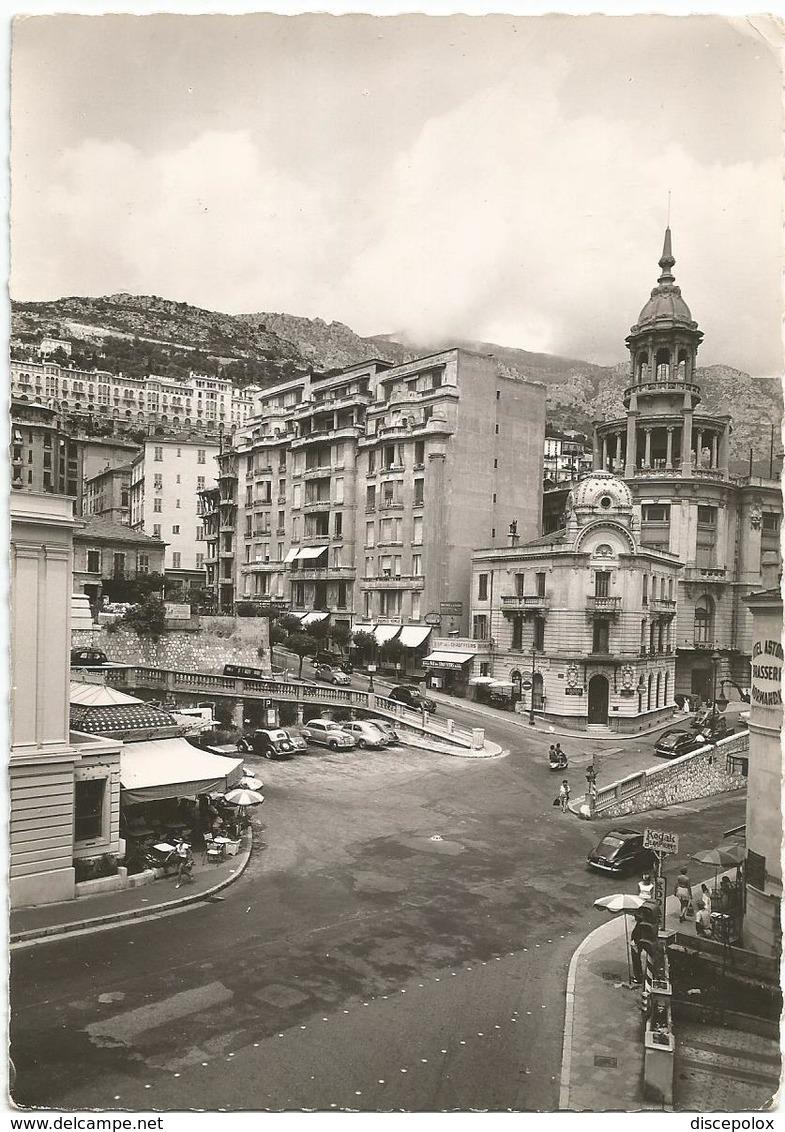 V3958 Principaute De Monaco - Place De La Crénaillere - Frontiere Franco Monegasque - Auto Cars Voitures / Non Viaggiata - Monaco
