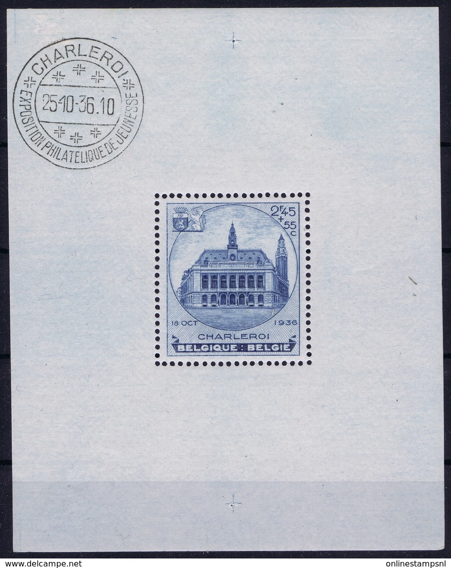 Belgium Block 6 Postfrisch/neuf Sans Charniere /MNH/**  OBP 437  1936 - Blokken 1924-1960