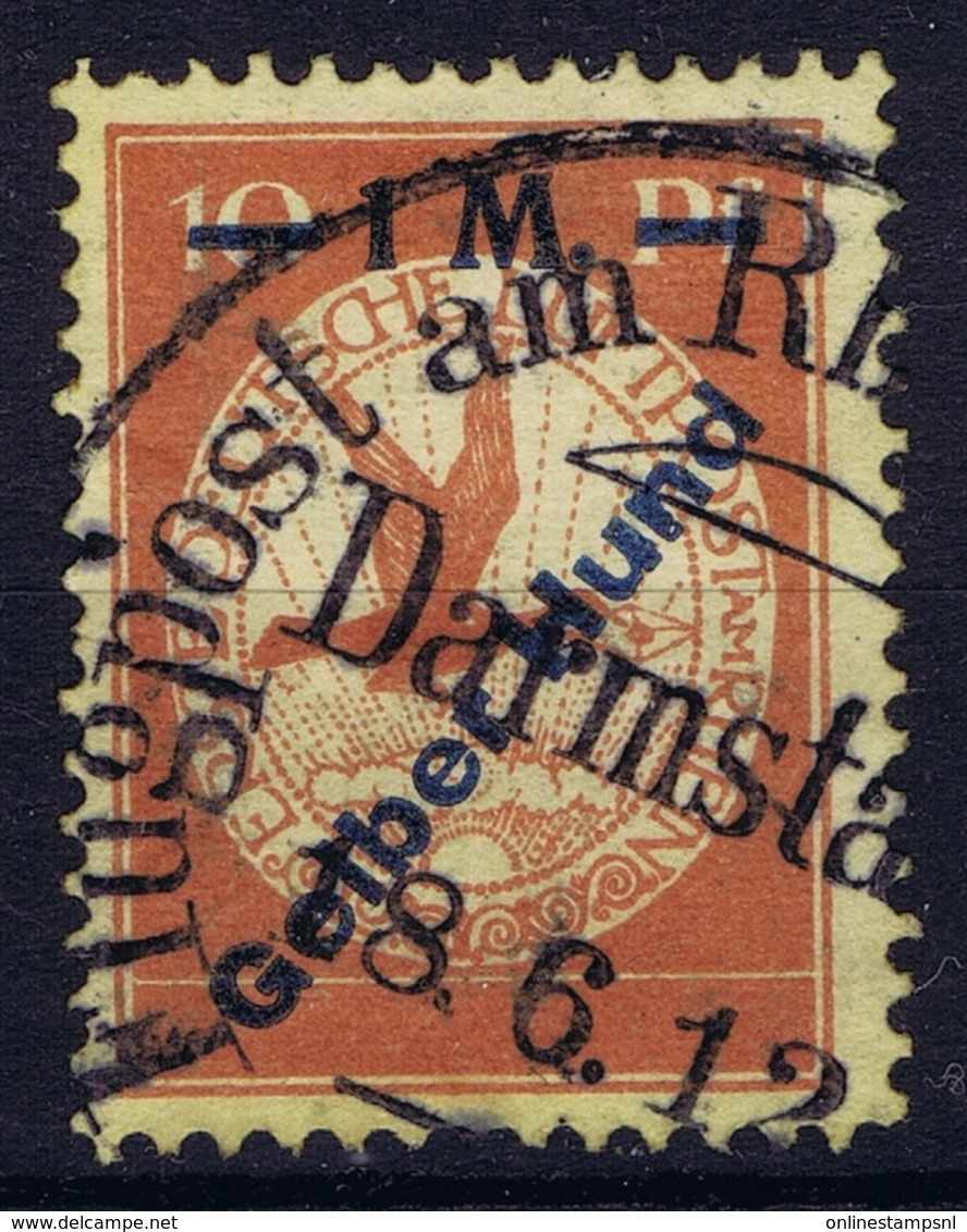 Germany Mi Nr IVPF 1 Luftpost 1912 Gelberhund Flugpost 1 M. - Luchtpost