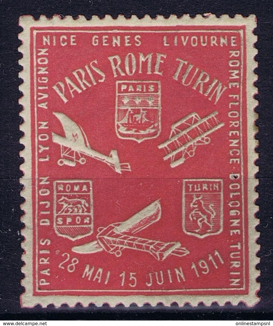 France Course D'Aeroplanes Paris - Roma - Turin 1911 - Zonder Classificatie