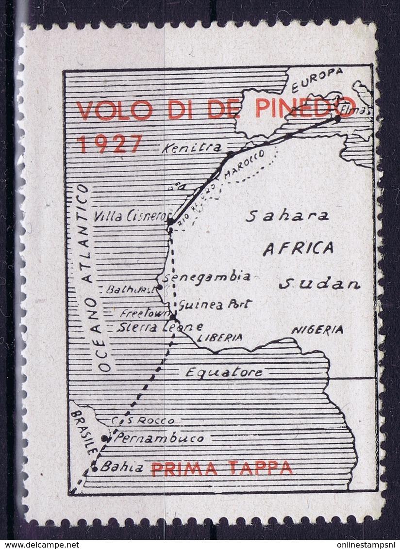 Italy  VOLO DI DE PINEDO 1927 - 1900-44 Victor Emmanuel III