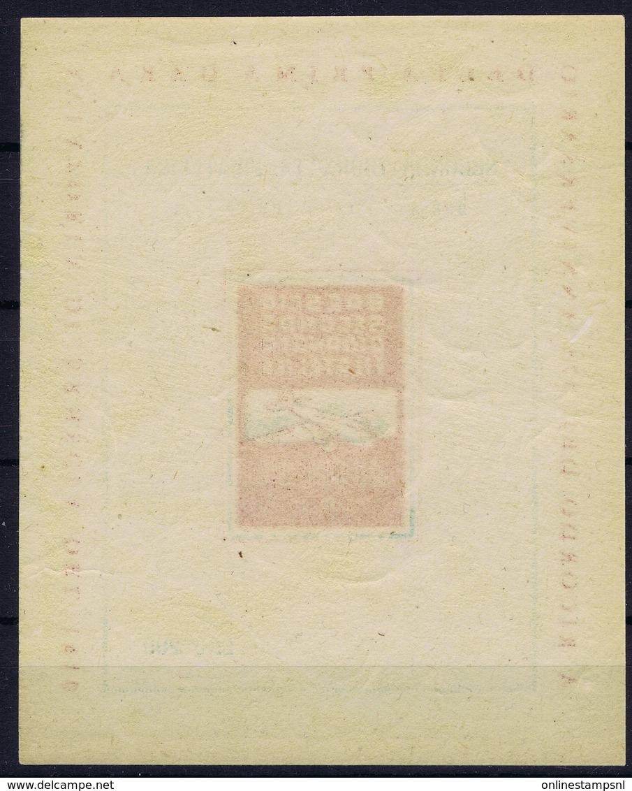 ITALY A RICORDO DEL 37E ANNIVERSARIO DELLA PRIMA GARA AVIATORIA DI BRESCIA DEL 1910 SECONDA GIORNATA FILATELICA - 1900-44 Victor Emmanuel III