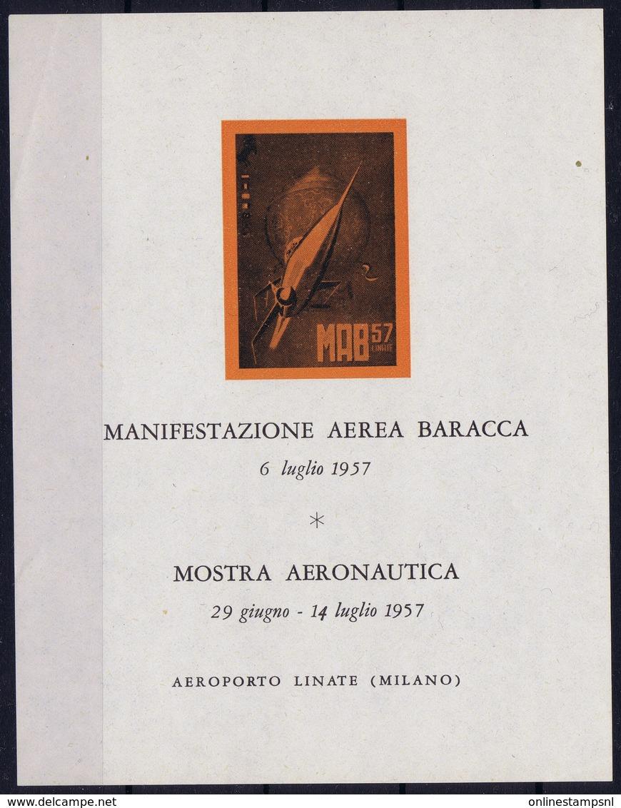 ITALY MANIFESTAZIONE AEREA  BARACCA  MOSTRA  AERONAUTICA  LINATE MILANO - 1900-44 Victor Emmanuel III
