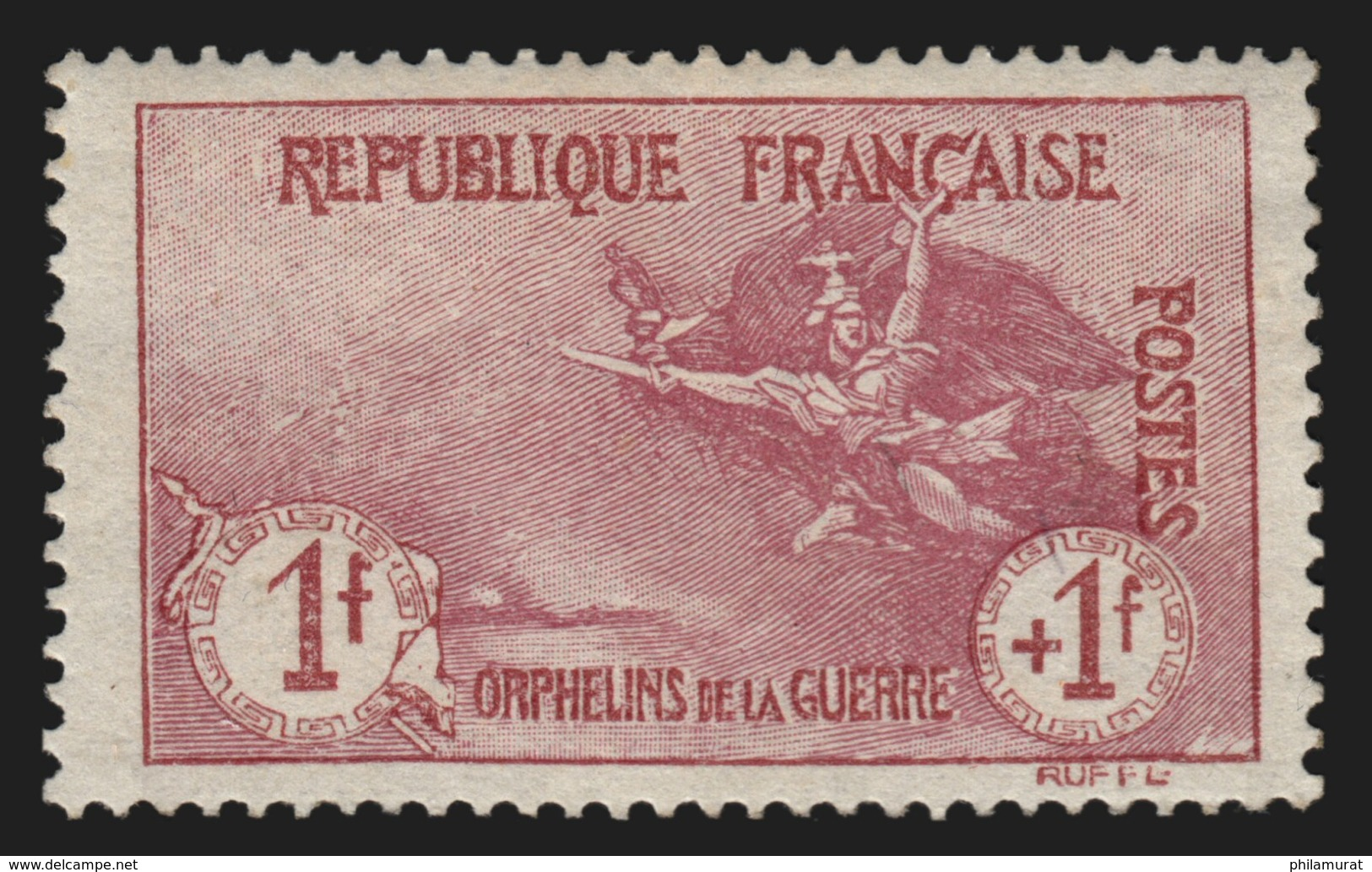 France N°154, Orphelins 1fr Carmin, Neuf ** Sans Charnière COTE 1700 € - France