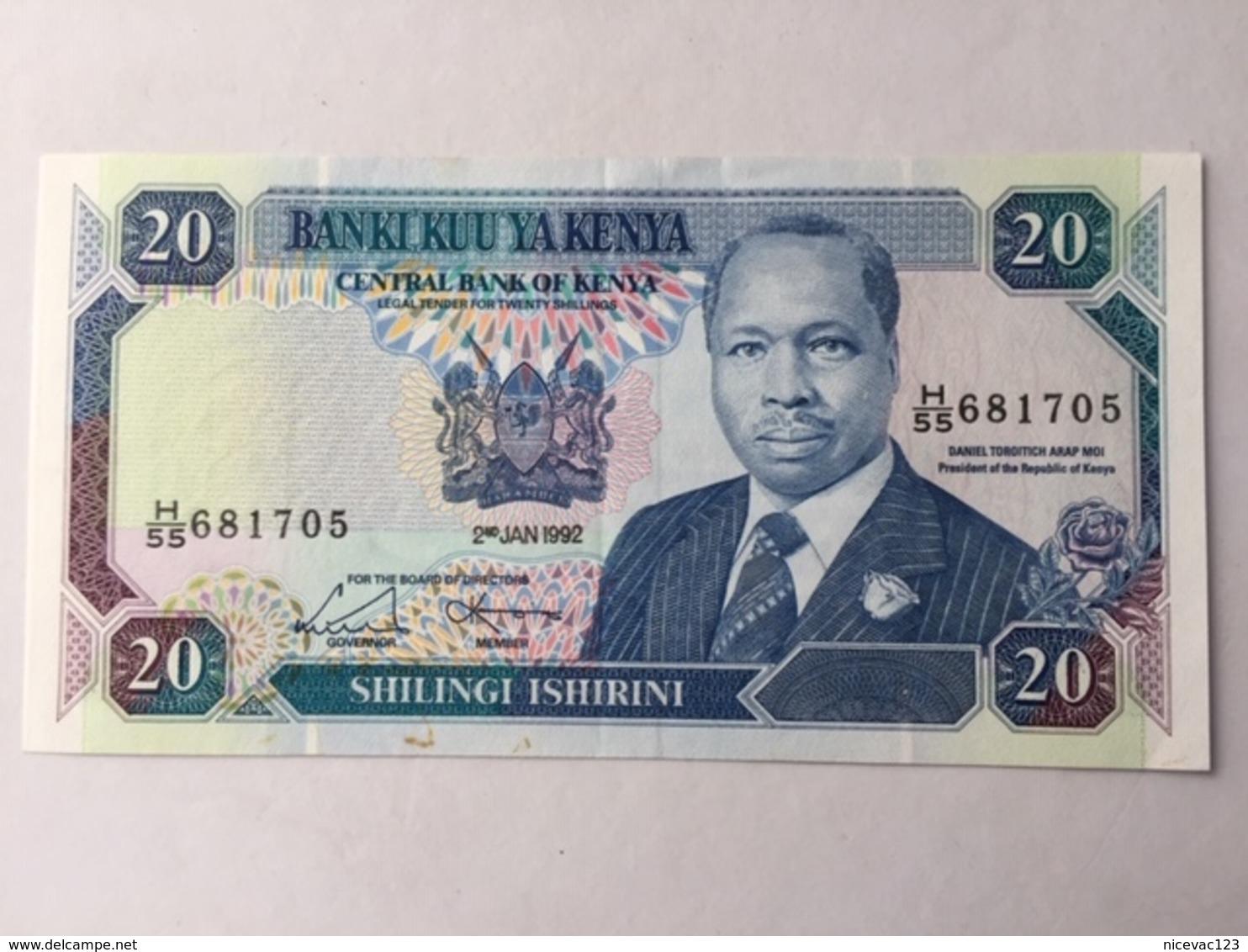 KENYA P25 20 SHILLING 1.7.1992 UNC - Kenia