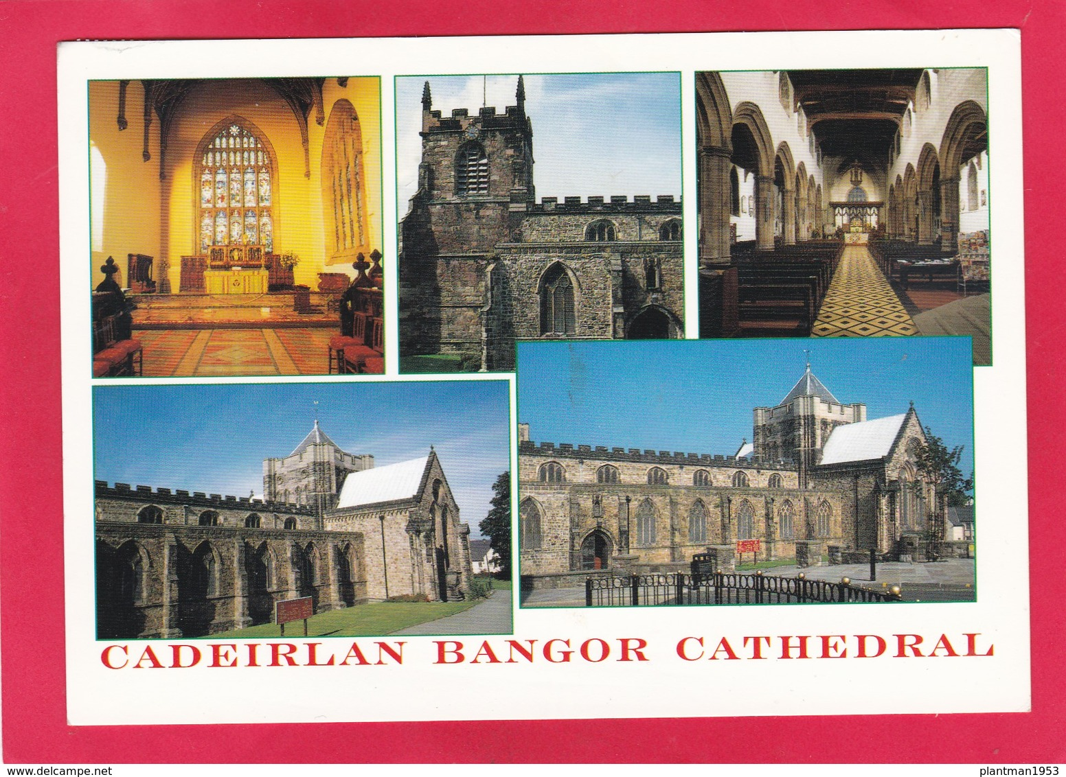 Modern Multi View Post Card Of Bangor Cathedral, Gwynedd,Wales,P36. - Other