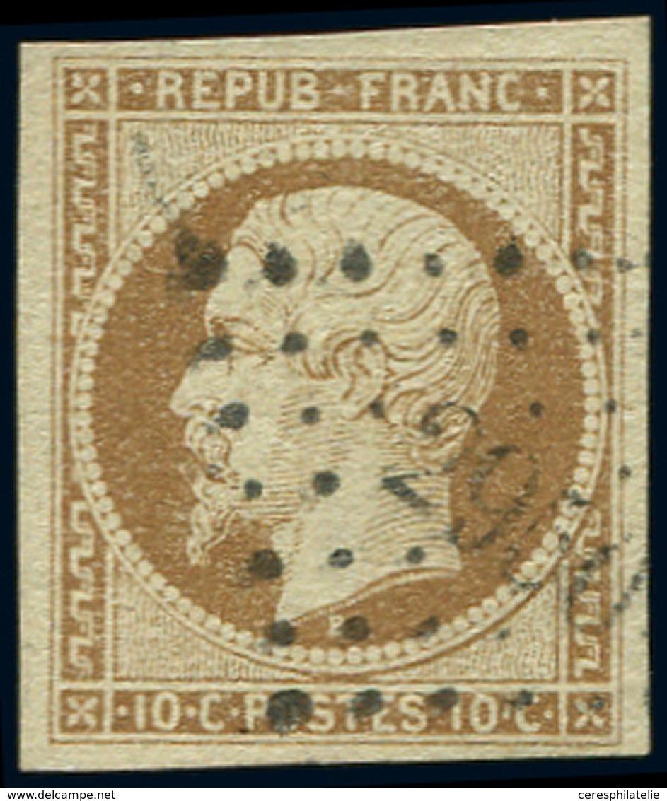 PRESIDENCE - 9    10c. Bistre-jaune, Oblitéré PC 2950, Frappe Légère, TTB - 1852 Louis-Napoleon