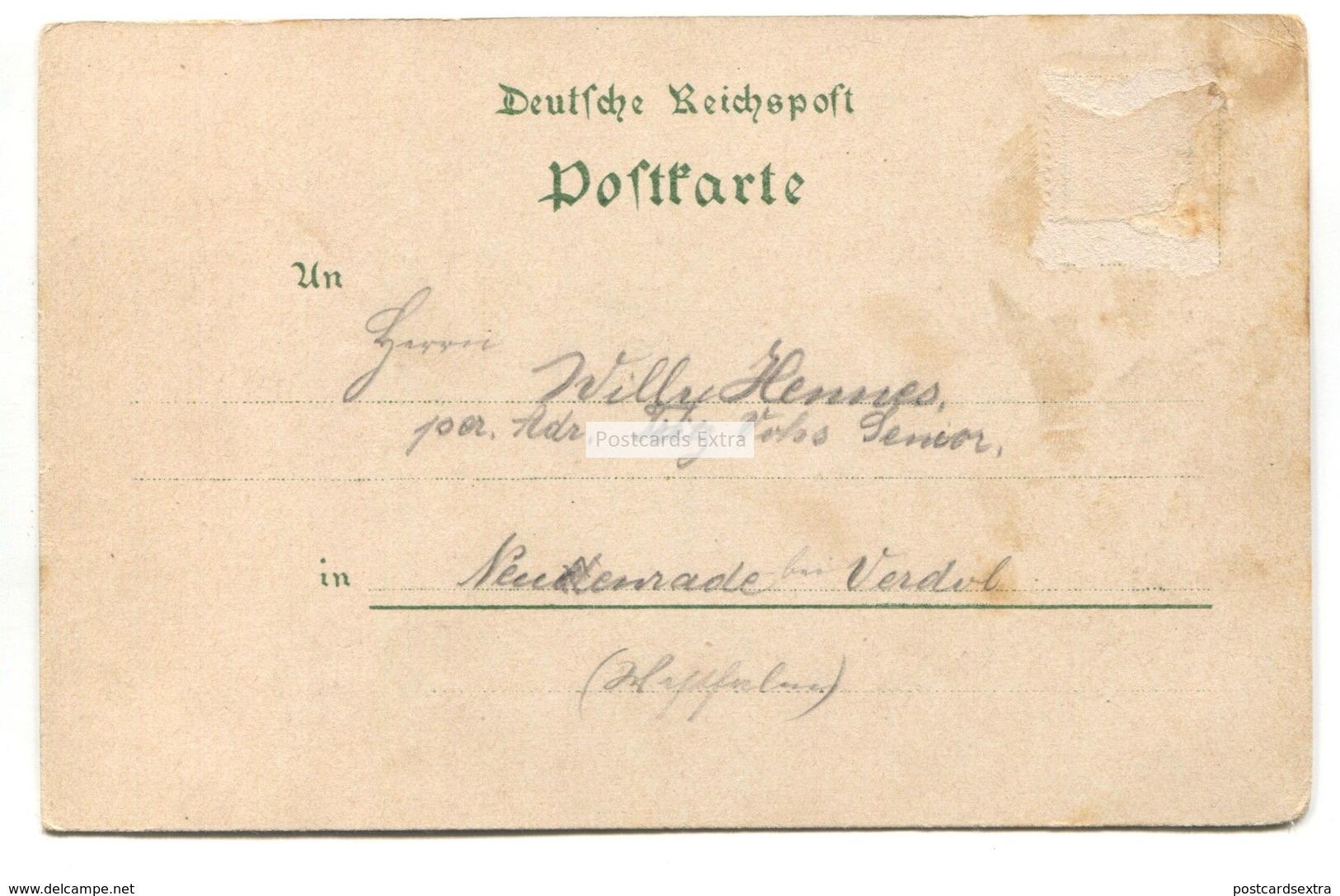 Gruss Aus Hulsenbusch - Early Germany Postcard - Gummersbach