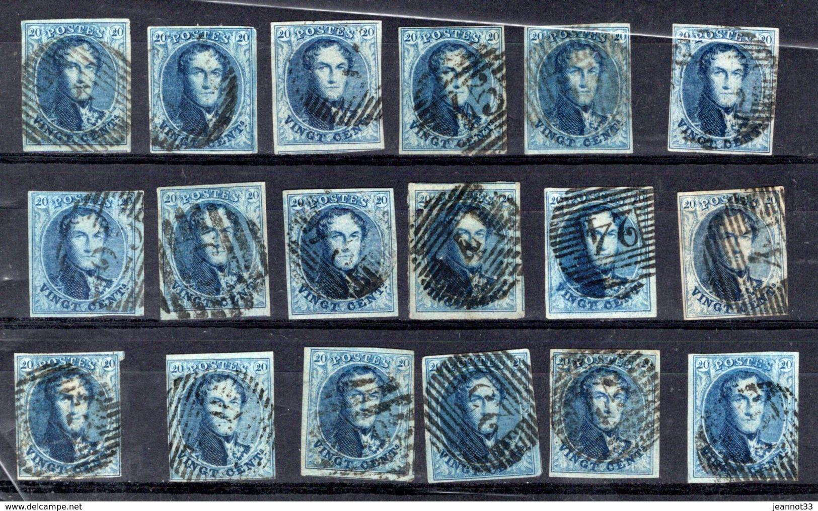 11A Lot De 18 Timbres Oblitéré - 1858-1862 Médaillons (9/12)