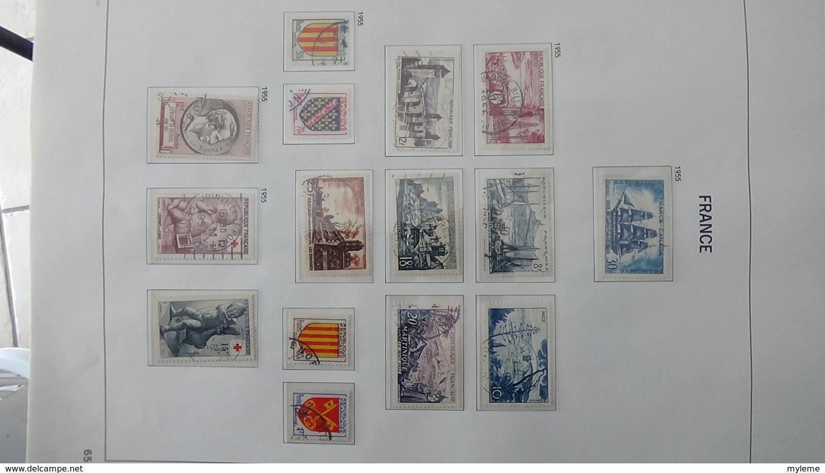 B Collection De France En DAVO II De IX De 1950 à 1969 Oblitéré Dont Toutes Les Bonnes Séries. Côte +++ - Collections (with Albums)