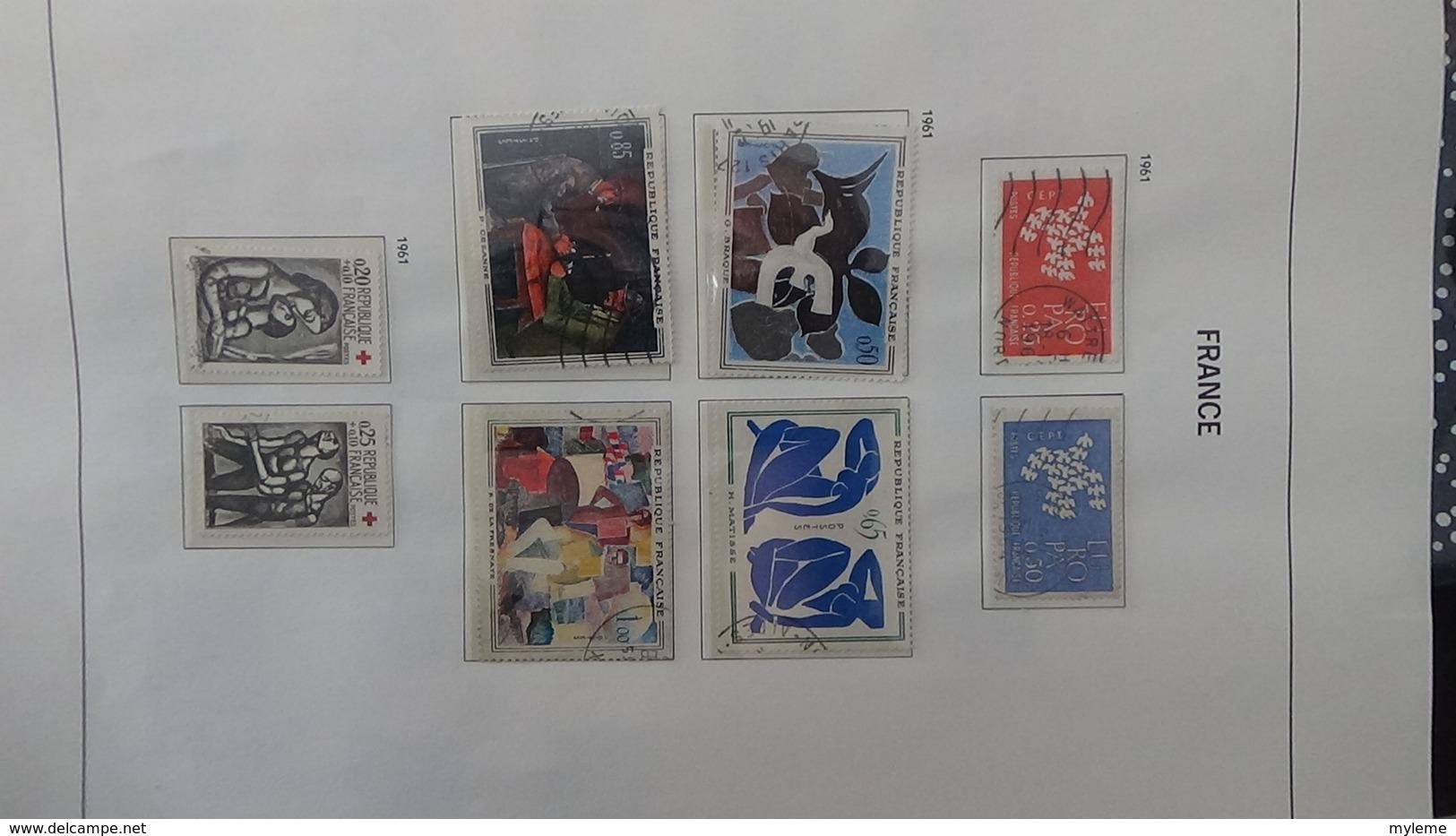 B Collection De France En DAVO II De IX De 1950 à 1969 Oblitéré Dont Toutes Les Bonnes Séries. Côte +++ - Stamps