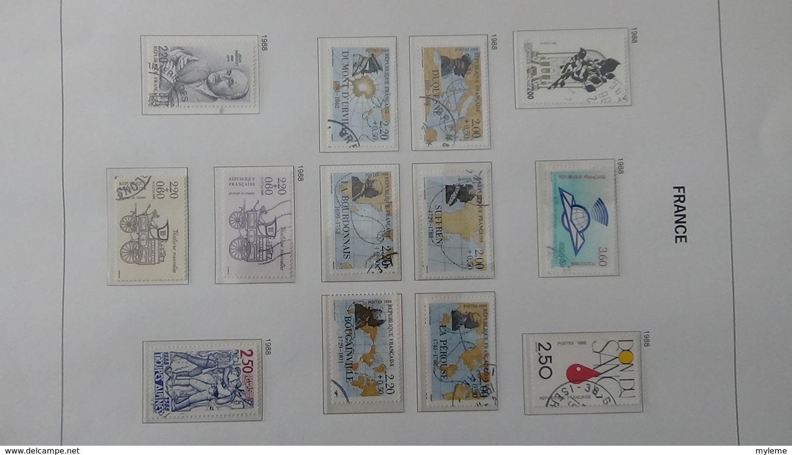 B Collection De France En DAVO IV De IX De 1984 à 1993 Oblitéré Bien Suivi - Collections (with Albums)