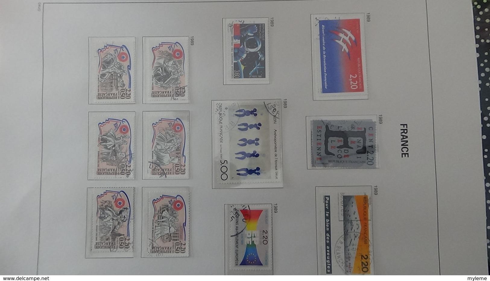 B Collection De France En DAVO IV De IX De 1984 à 1993 Oblitéré Bien Suivi - Briefmarken