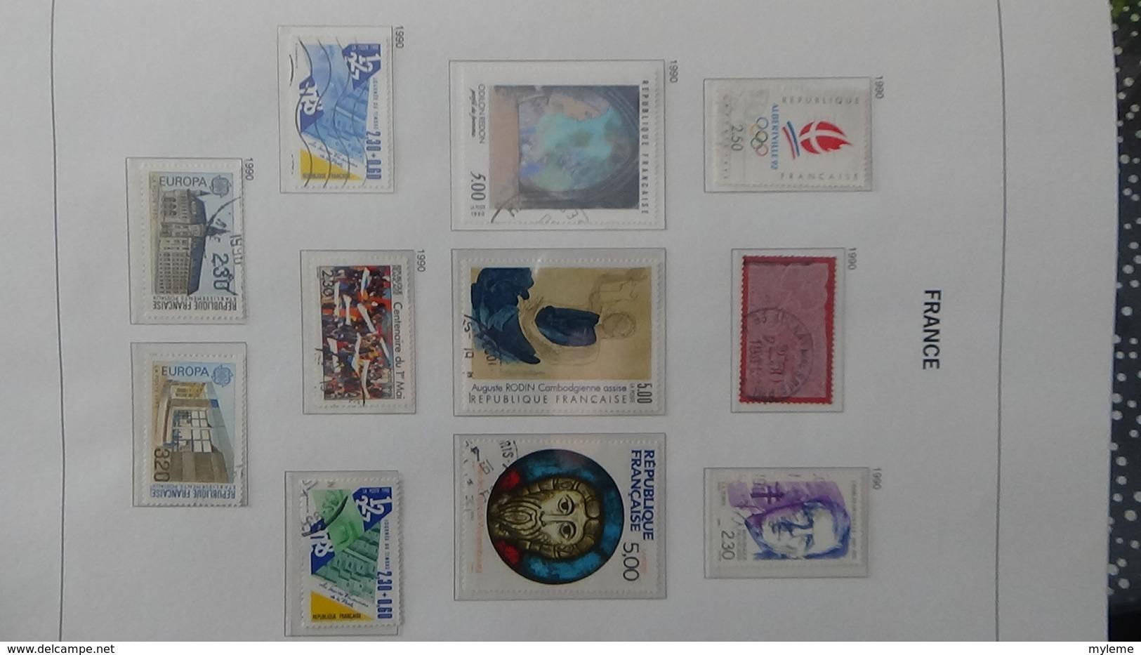 B Collection De France En DAVO IV De IX De 1984 à 1993 Oblitéré Bien Suivi - Stamps