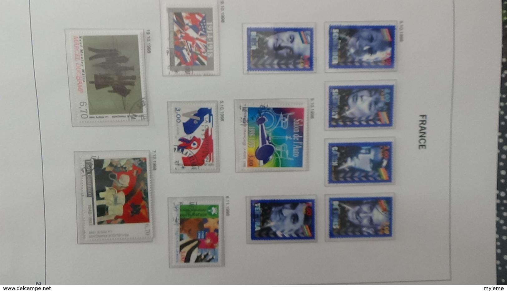 B Collection De France En DAVO V De IX De 1994 à 1999 Oblitéré Bien Suivi - Timbres