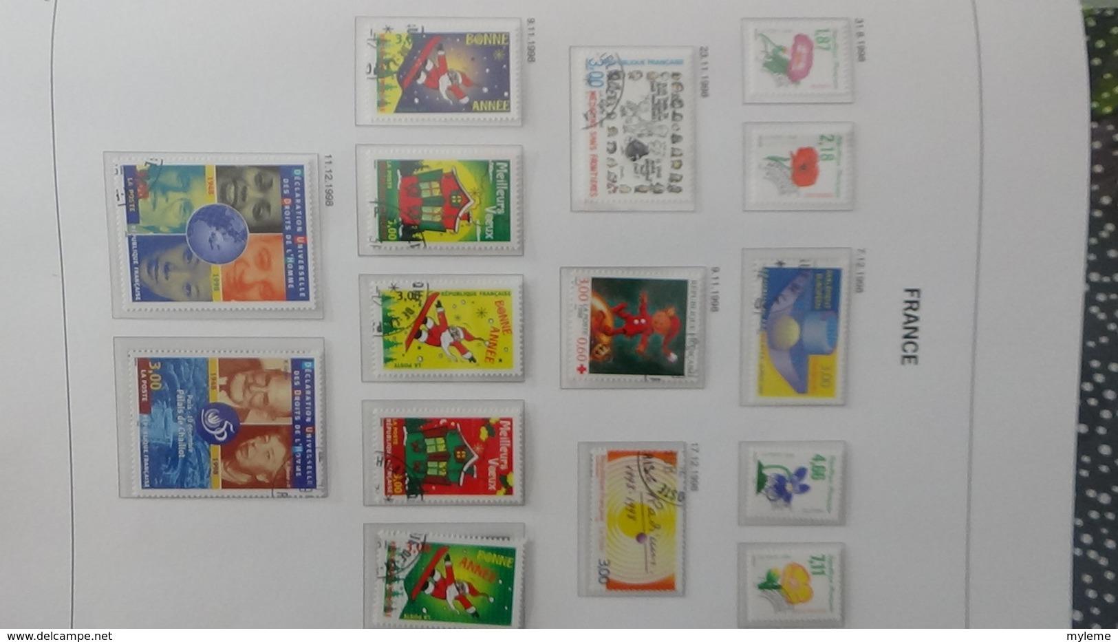 B Collection De France En DAVO V De IX De 1994 à 1999 Oblitéré Bien Suivi - Collections (with Albums)