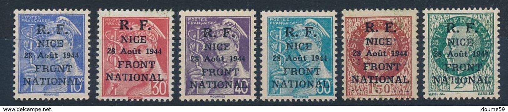 DI-305: FRANCE: Lot Avec Libération NICE N°1/6** - Libération