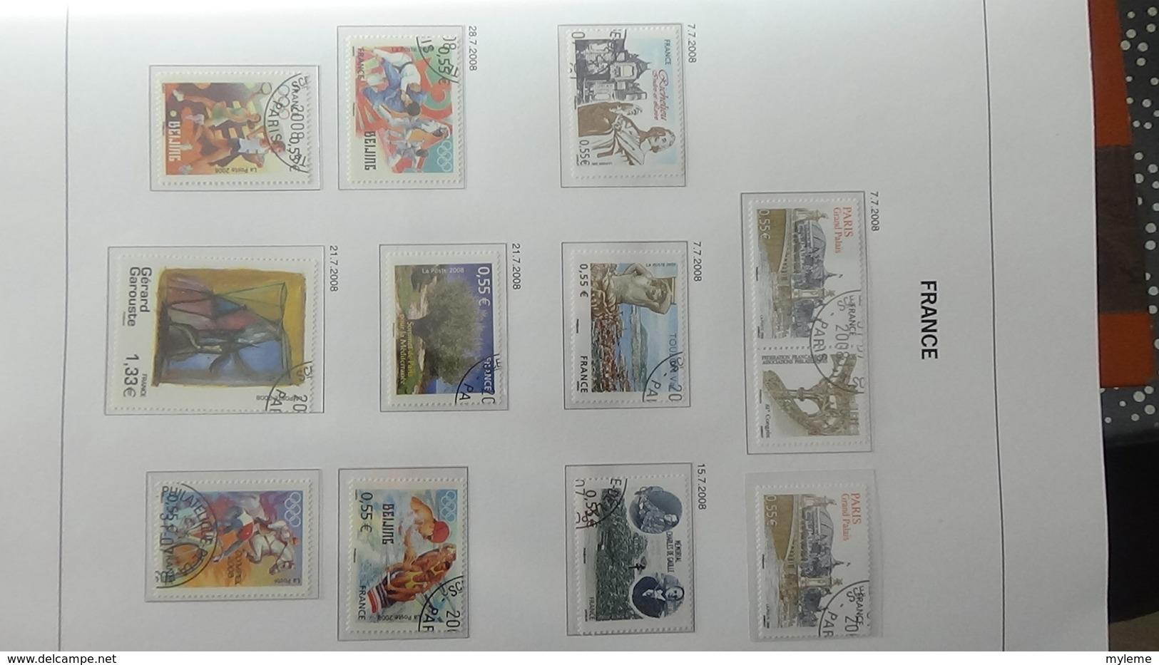 B Collection De France En DAVO VIII De IX De 2007 à 2009 Oblitéré Bien Suivi - Timbres