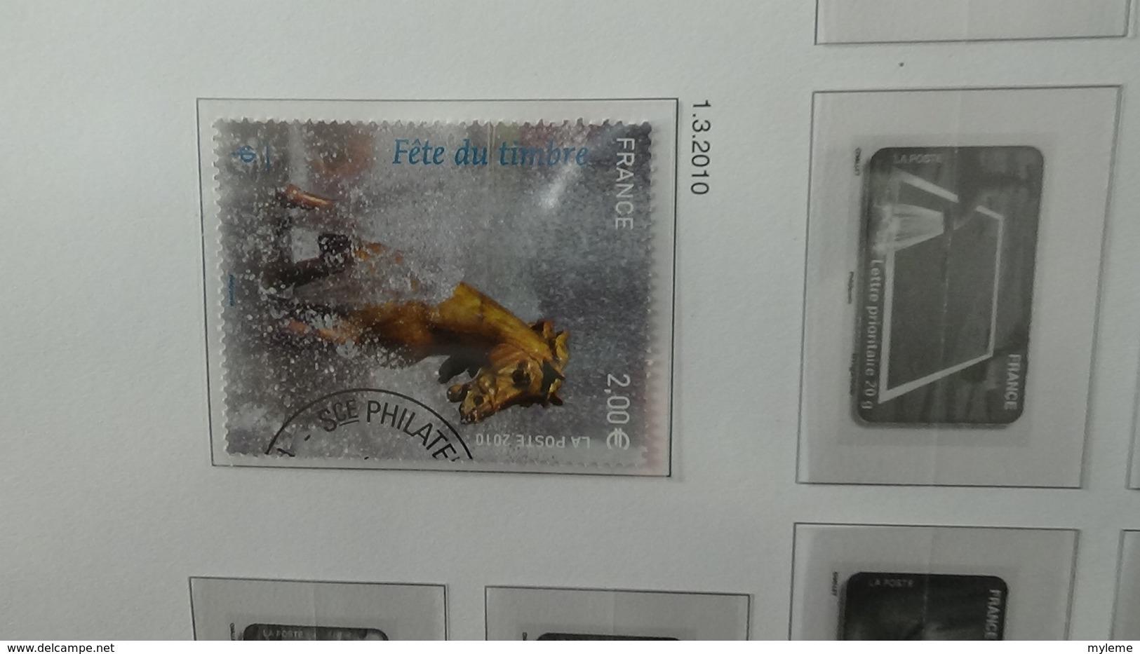 B Collection De France En DAVO IX De IX De 2009 à 2012 Oblitéré Bien Suivi - Timbres
