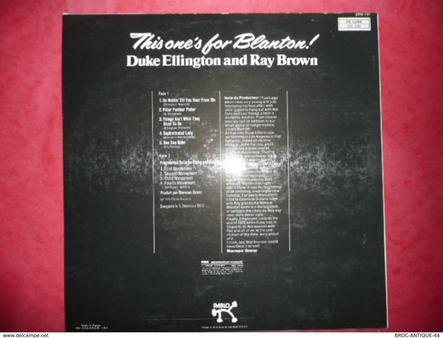 LP N°2083 - DUKE ELLINGTON AND RAY BROWN - REF : 2310 721 - VOIR AUSSI MES CD - Jazz