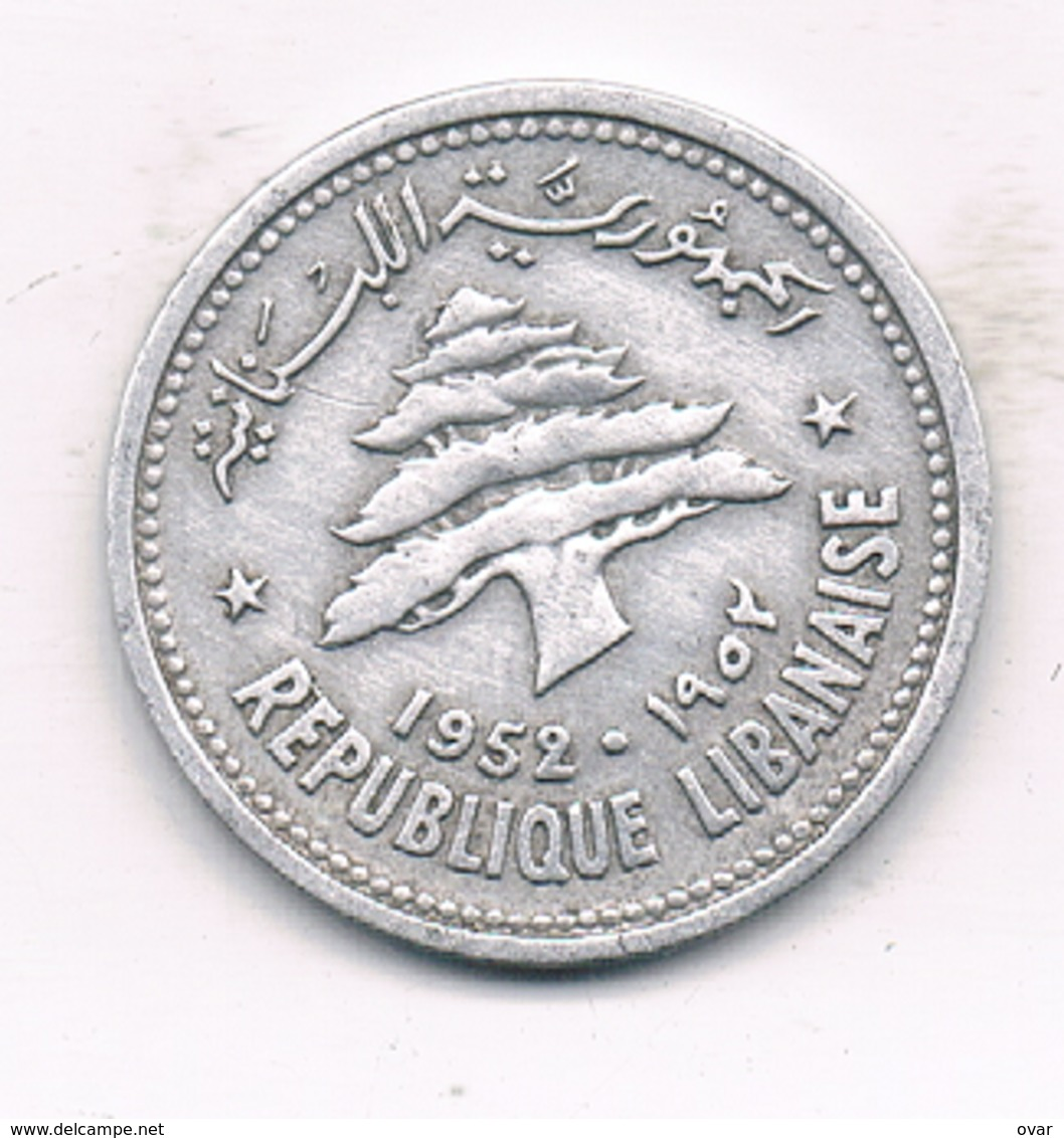 10 PIASTRES 1952 LIBANON /993/ - Lebanon