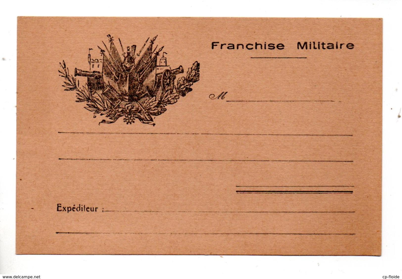 ENTIER POSTAL . CARTE POSTALE . F. M. . FRANCHISE MILITAIRE - Réf. N°798T - - Marcofilie (Brieven)