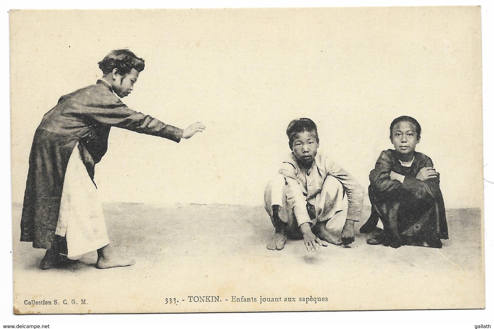 TONKIN-Enfants Jouant Aux Sapèques...   Animé - Viêt-Nam