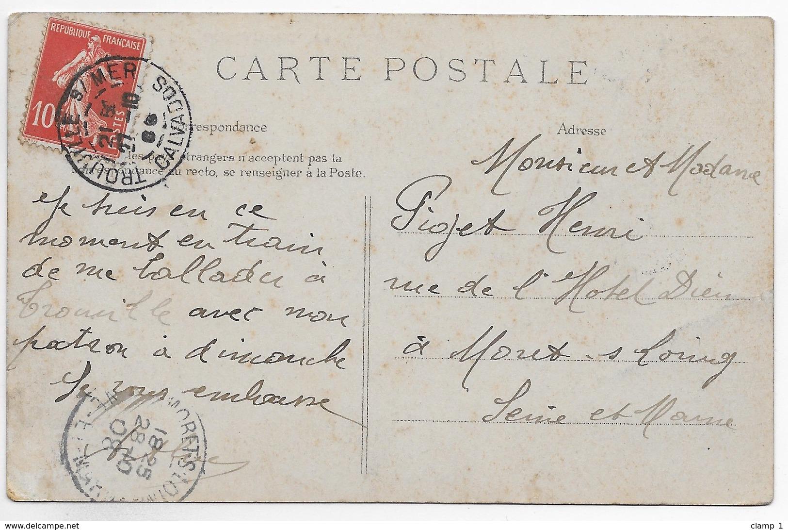 CPA 14 DEAUVILLE QUAI DE LA MARINE  ** CARTE PEU COMMUNE ** - Deauville