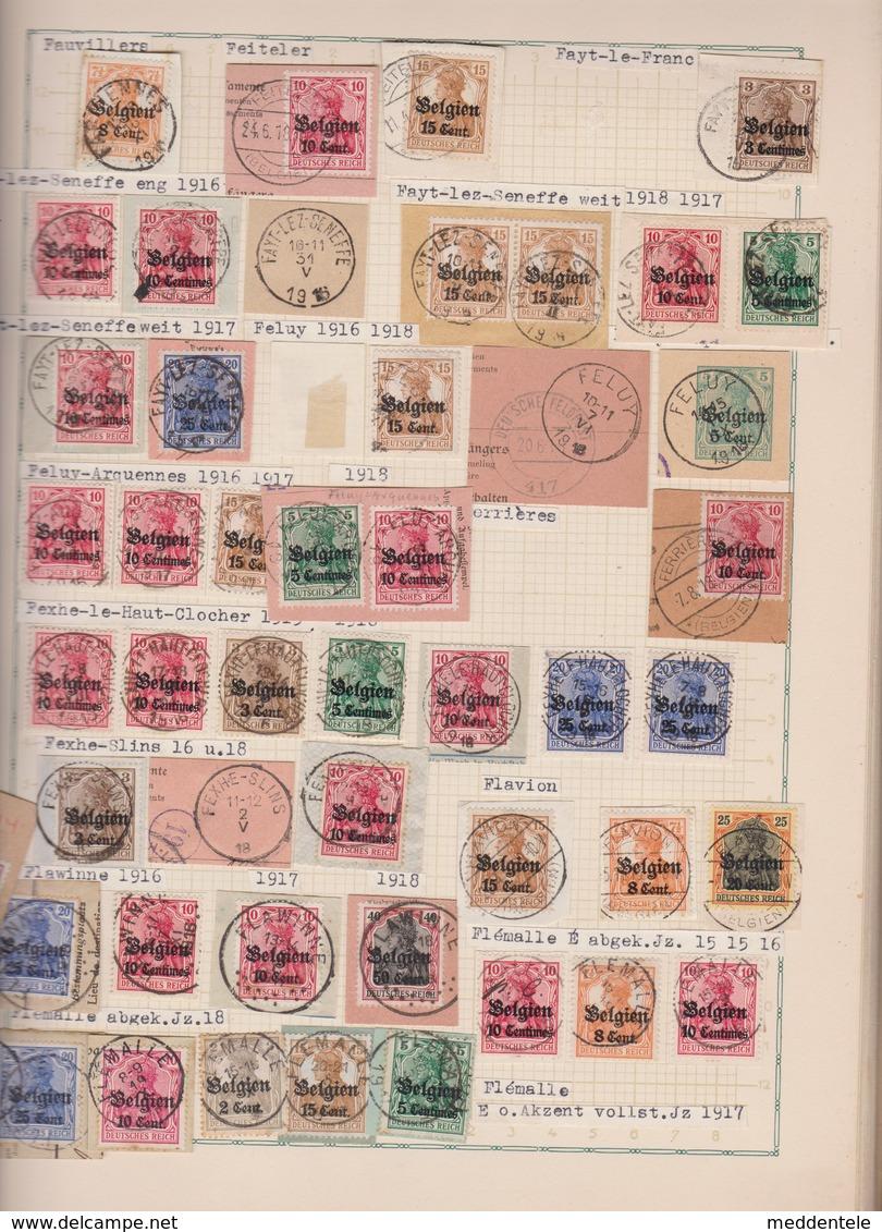 La Collection MÖLZ Des Oblitérations De L'occupation WW1 1914-1918 En 7 Volumes, Source Pour La Catalogue ZIRKENBACH - Guerre 14-18