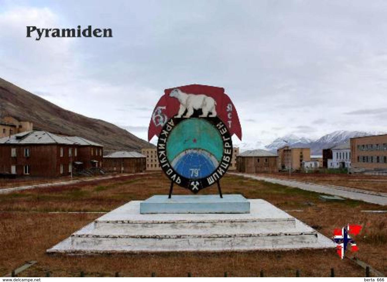 Svalbard Islands Pyramiden Arktikugol Sign New Postcard Spitzbergen AK - Norway