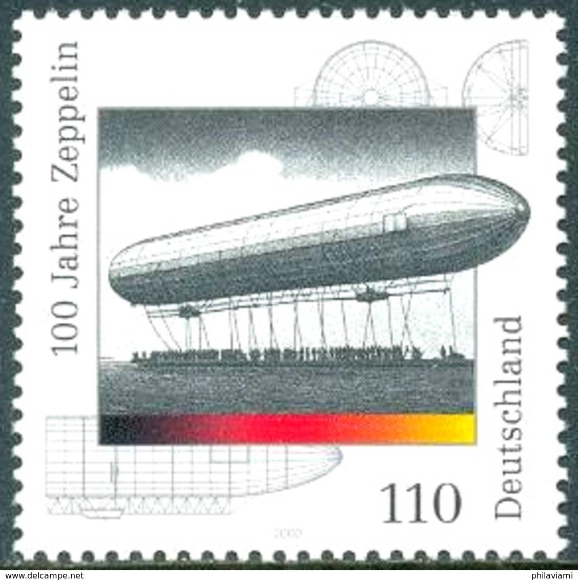 Allemagne  Germany Deutschland 2000 Cent Ans Zeppelin 100 Jahre 100 Years - Zeppelins