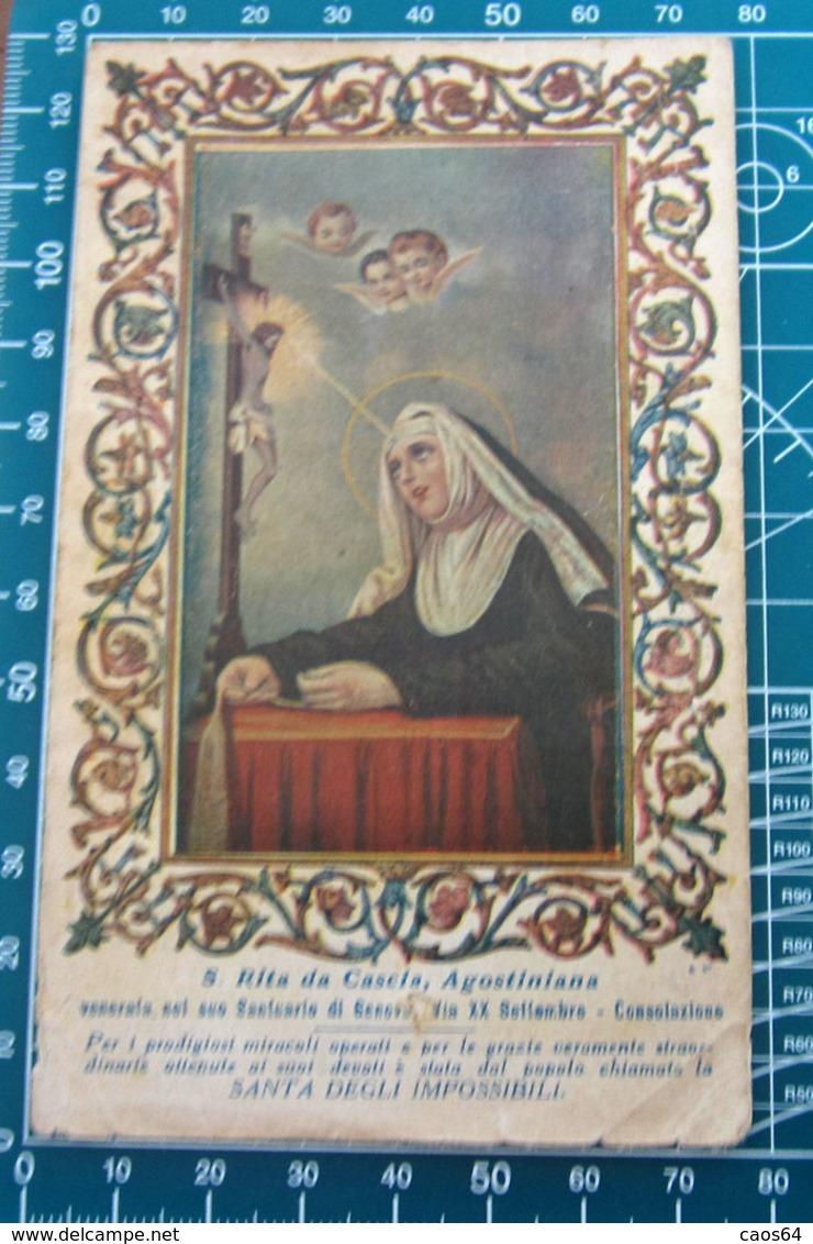 S. RITA DA CASCIA AGOSTINIANA Venerata Santuario Genova SANTINO Preghiera Nei Casi Disperati - Santini