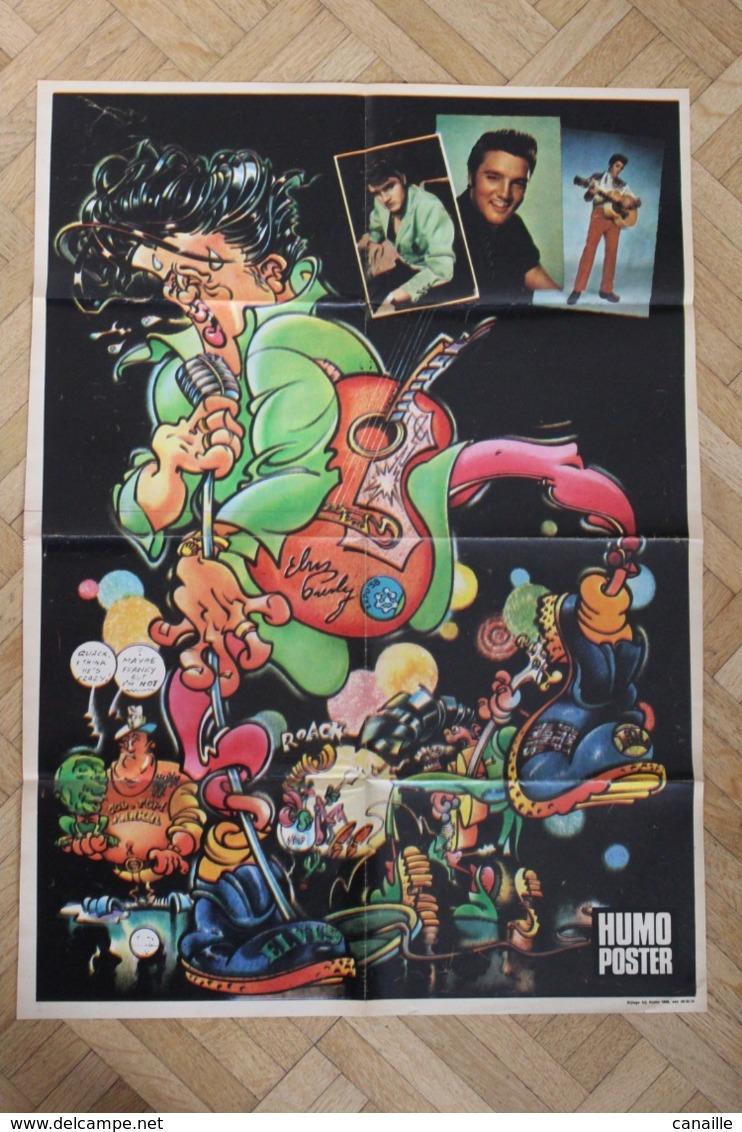 SP-3 / Rare Poster De 1972 Elvis Presley Né 1935 à Tupelo, Dans Le Mississippi, Mort En 1977 à Memphis.forma 60x43cm - Musique
