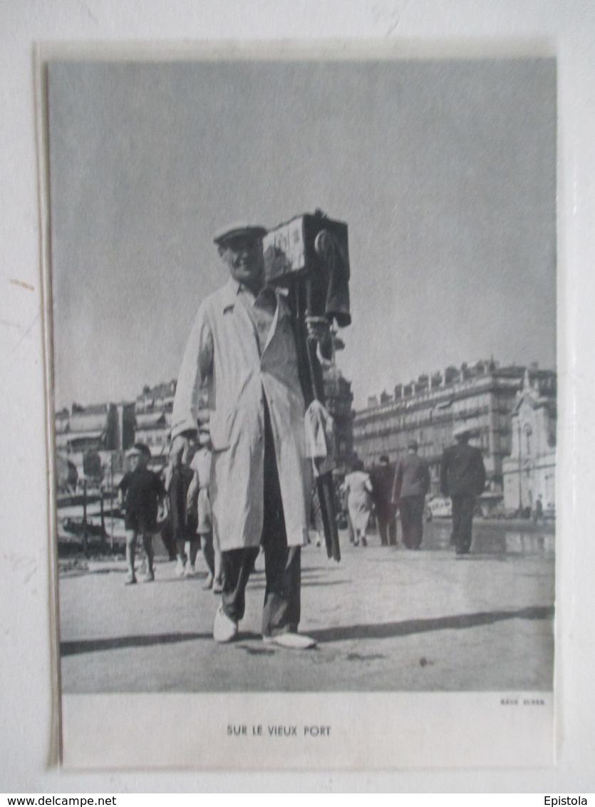 Théme Appareil Photo & Camera -  Le Photographe Du Port De Marseille     - Ancienne Coupure De Presse 1938 - Photography