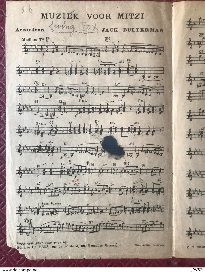 (119) Partituur - Partition - Muziek Voor Mitzi - Bulterman - Partituren