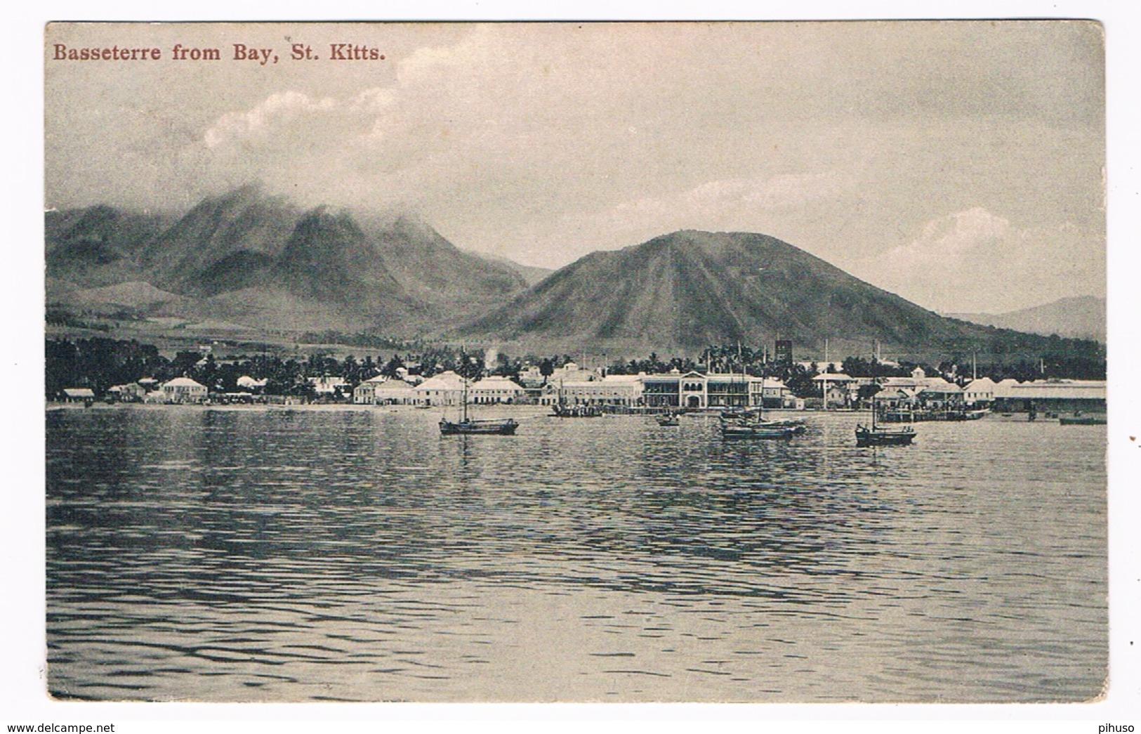 KIT-1   SAINT KITTS : BASSETERRE From Bay - Saint Kitts E Nevis