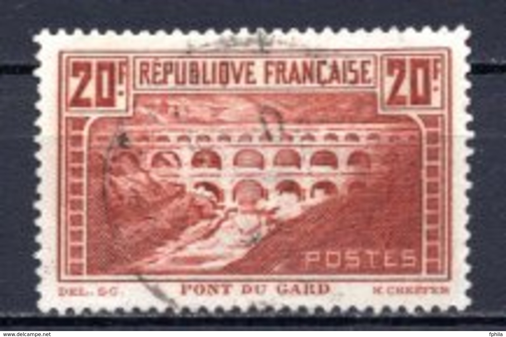 1931 FRANCE 20FR. DEFINITIVE PERF. 13 MICHEL: 242C USED - Gebraucht
