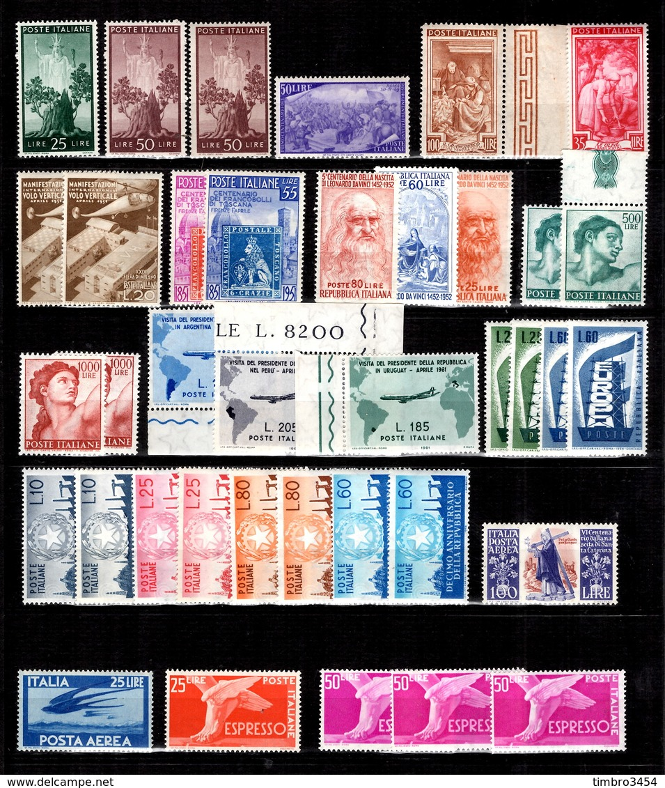 Italie Belle Collection Neufs ** MNH 1945/1961. Bonnes Valeurs. TB. A Saisir! - Italy
