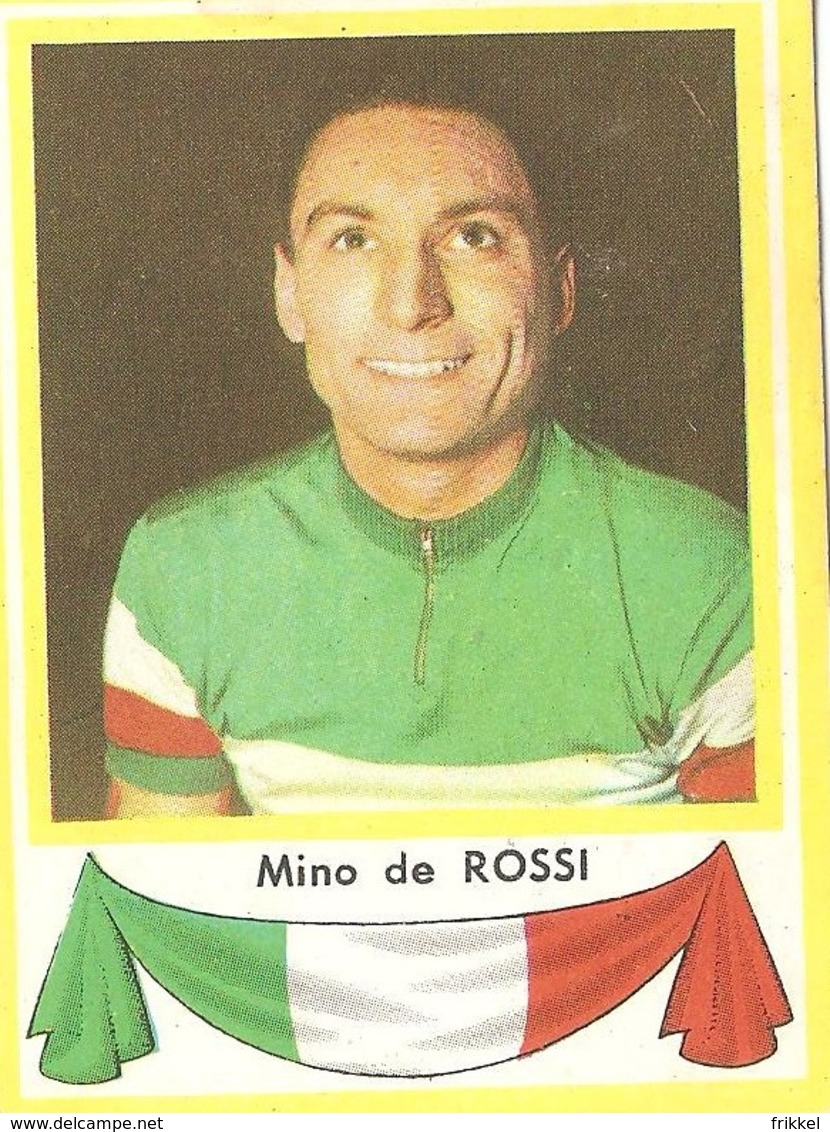 Mino De Rossi Kaartje Chromo (5 X 7 Cm) Coureur Wielrenner Renner Cycliste Velo Fiets Bicyclette Cyclisme - Cyclisme