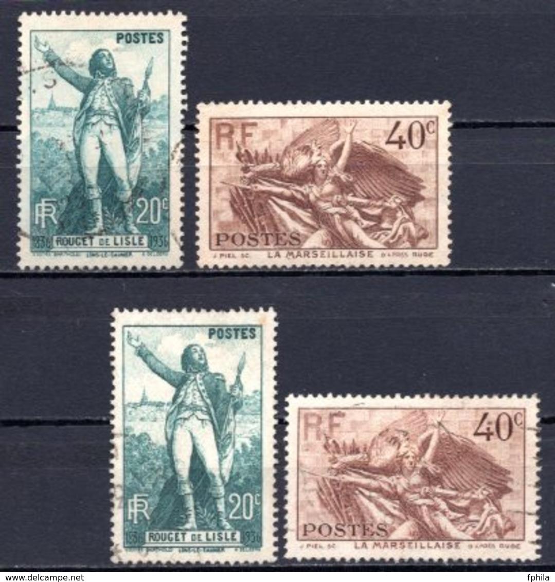 1936 FRANCE C. J. ROUGET DE LISLE 2x Sets MICHEL: 319-320 USED - Gebraucht
