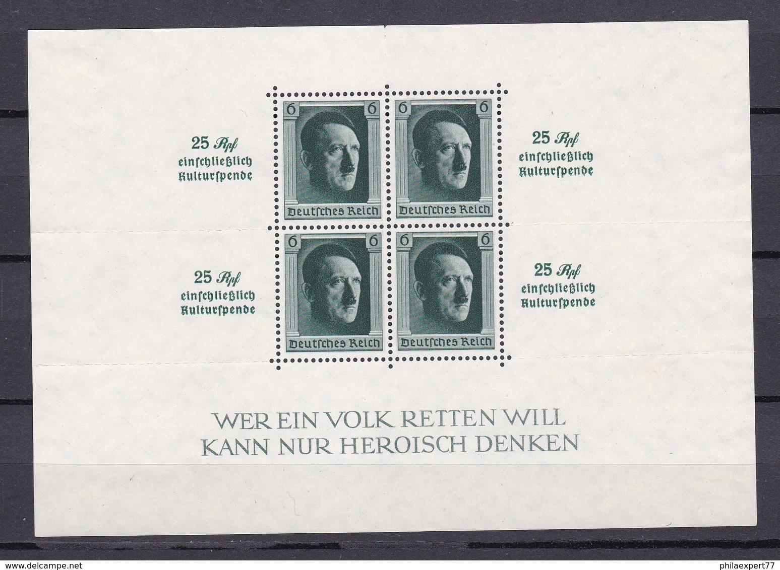 Deutsches Reich - 1937 - Michel Nr. Block 9 - Ungebr. - Ungebraucht