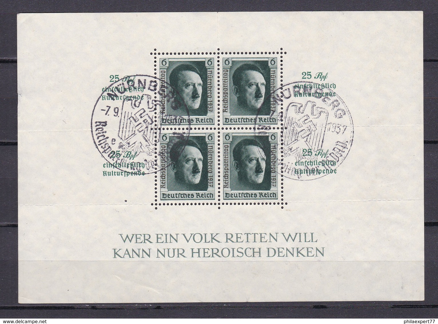 Deutsches Reich - 1937 - Michel Nr. Block 11 - Gest. - Gebraucht