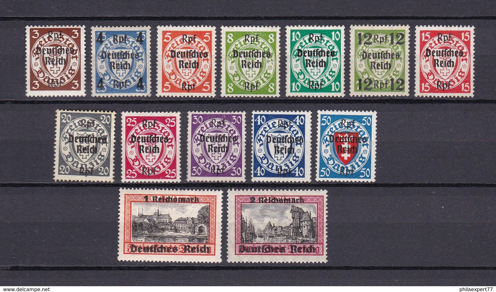 Deutsches Reich - 1939 - Michel Nr. 716/729 - Postfrisch/Ungebr. - 130 Euro - Ungebraucht