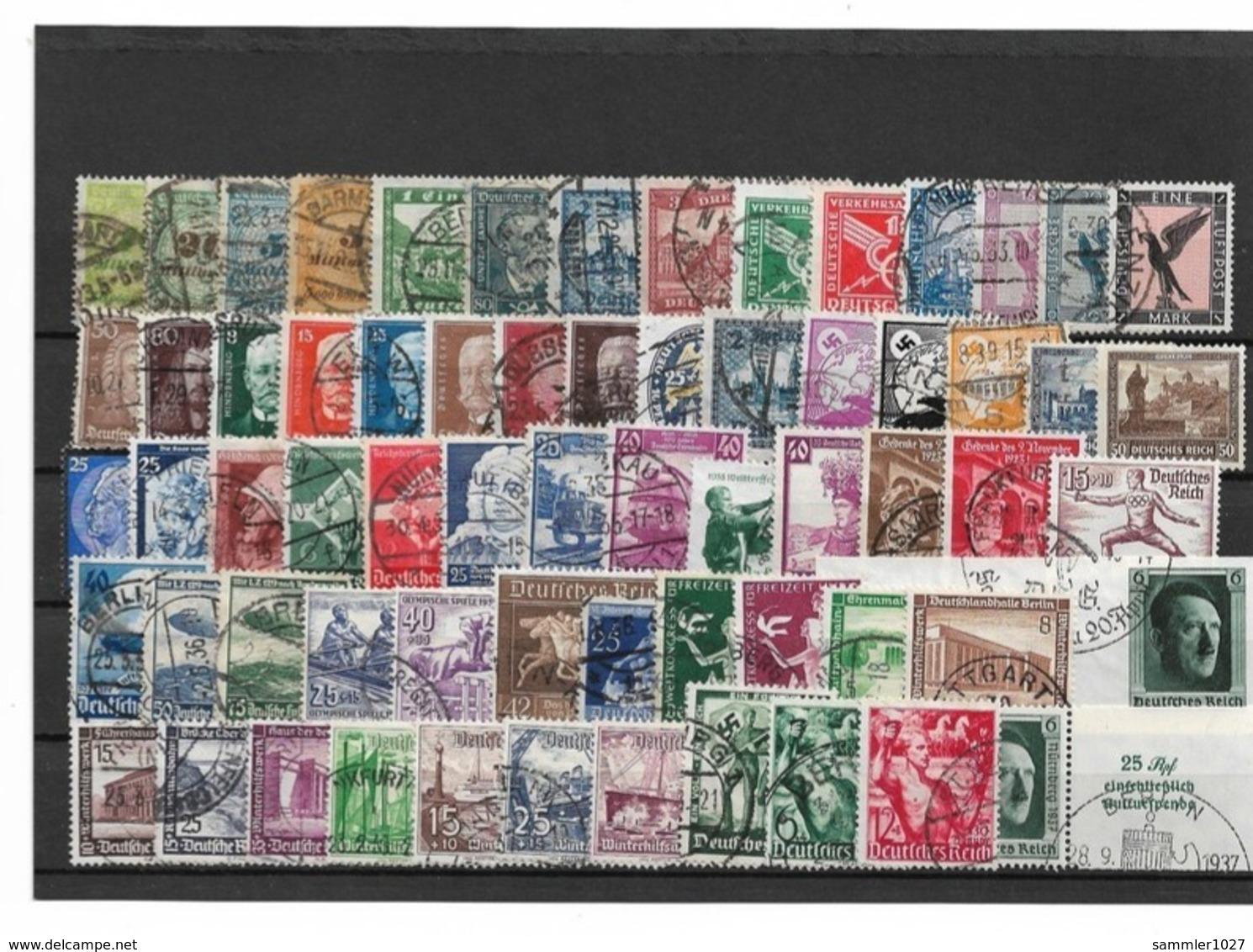 Briefmarkenlos  Deutsches Reich Gestempelt - Germania