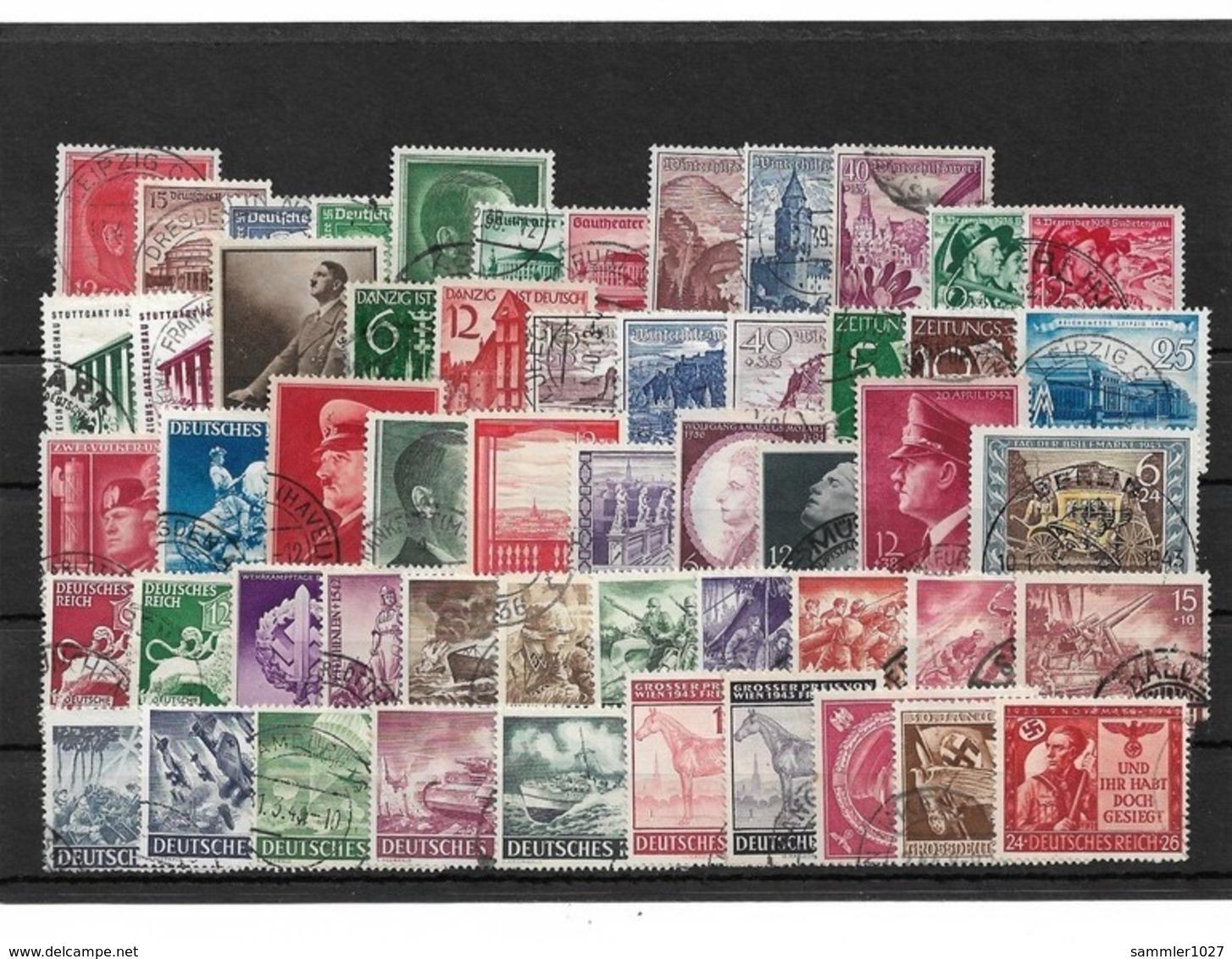 Briefmarkenlos  Deutsches Reich Gestempelt - Duitsland