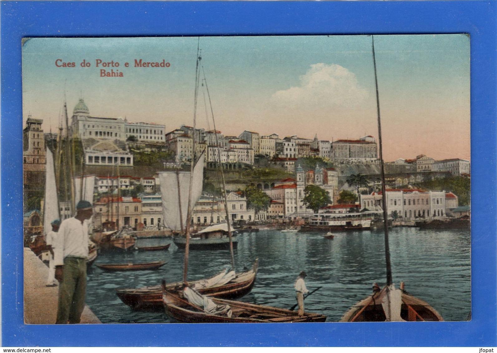 BRESIL - BAHIA Caes Do Porto E Mercado, Glacée Couleur - Salvador De Bahia